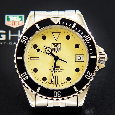 TAG Heuer 1000 Submariner Man stainless steel with a yellow lumi dial 980.113N