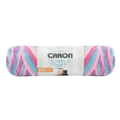 Caron Simply Soft Stripes Yarn-Times Square