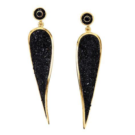 Black Tourmaline Spire Earrings