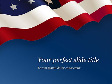 Usa Flag On Blue Background Powerpoint Template 15443 America Poweredtemplate Com Background Powerpoint Powerpoint Templates Powerpoint