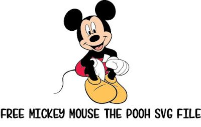 FREE Mickey Mouse SVG - www my-designs4you com | SVG FILES FOR