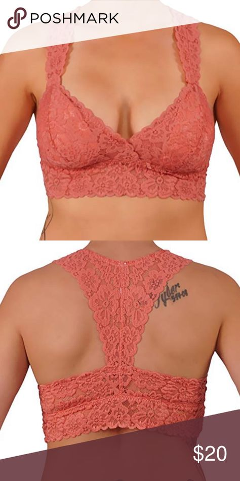 3bc8d8f251329 Rose Lace Bralette razor Back Item Details  Beautiful Floral Lace Bralette.  Features RacerBack Finish and Removable Cups With Wide Straps for Comfort.
