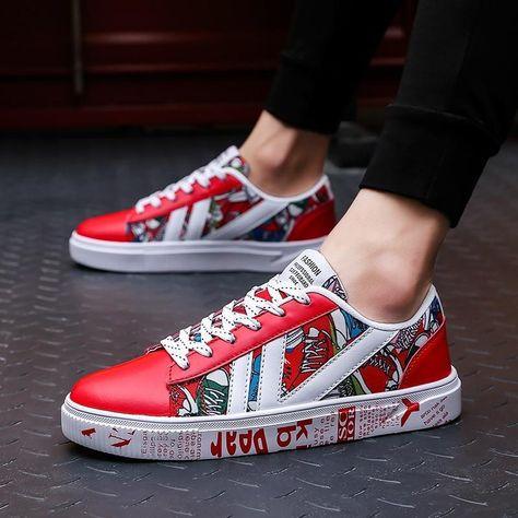 Canvas fashion shoes Men hot sneakers Low top Print fashion shoes – TopFashionova