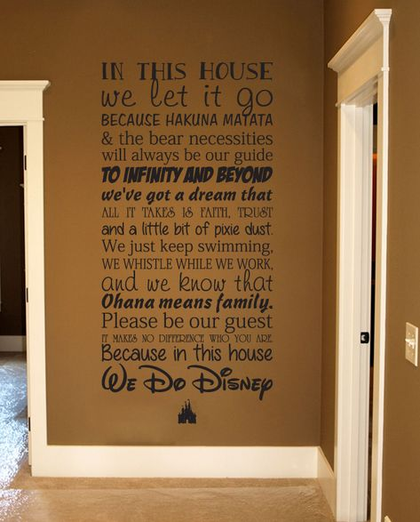 This Disney House Subway Wall Decal Love this! You can personalize it, too, with your last name.