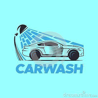 Carwash Logo Car Logo Vehicle Logo With Water Falls Is A Good Design For Company Or Business Car Wash Car Logos Automotive Logo