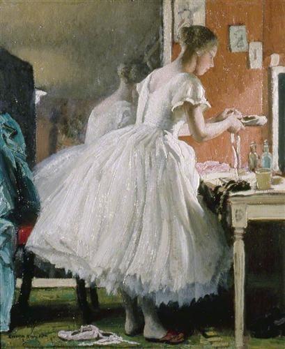 Vintage Laura Knight The Ballet Shoe Theatre in Art Pinterest La femme et Femmes