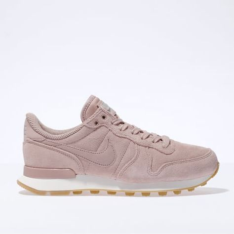 womens pale pink nike internationalist trainers | schuh