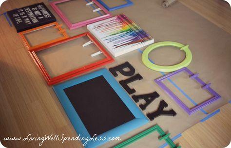 Rainbow Family Room | Kids Playroom Decorating Ideas | DiY Family Room