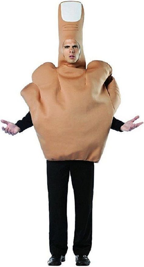 Adults Big Middle Finger Fancy Dress Costume