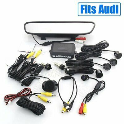 Ad Ebay Car Reverse Camera Radar Sensor Kit Backup Monitor Mirror