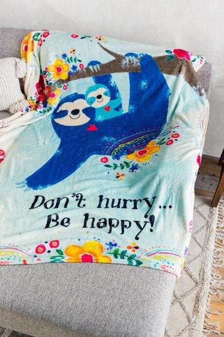 Funny Otter Blankets Gift For Animal Natural Lover Fleece Sherpa Blanket Xmas
