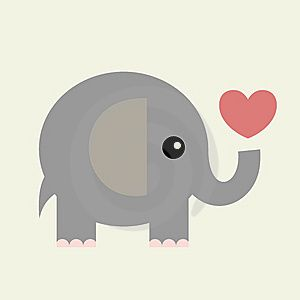 Creating my Valentine's Day cards with this super-cute elephant graphic!