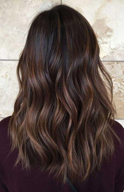Trendy hair highlights : caramel balayage on asian hair Balayage Asian Hair, Balayage Brunette, Caramel Balayage, Caramel Highlights, Balayage Highlights, Caramel Hair, Caramel Color, Chocolate Highlights, Blonde Brunette
