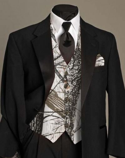 camo Tuxedos | Sandra D's Bridal Section / Tuxedos/ I like the white, but I still couldn't go through with it