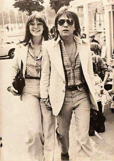David Cassidy with singer Kiki Dee, who opened for Elton John on ...