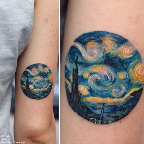 Efe Eraslan @th3rds | Istanbul Turkey Adaptation of Van Gogh's The Starry Night efe@freaktattoo.com.tr