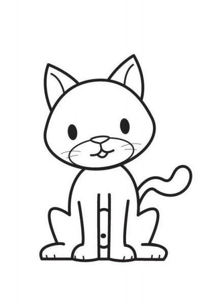 Gato Dibujo Para Colorear Gatito Para Colorear Dibujos De Gatos