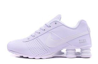 wholesale dealer e6e24 31a96 Nike Shox Deliver Triple White Mens Running Shoes