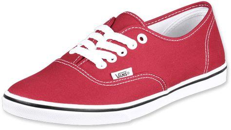 Red Vans : ) NICE | Vans authentic lo pro, Shoes, Black shoes