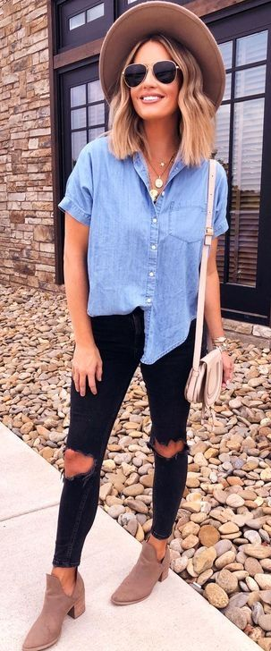55 Pretty Summer Outfits for Street Style Looks To Copy Now in 2020 Outfits with hats Summer work outfits Trending outfits