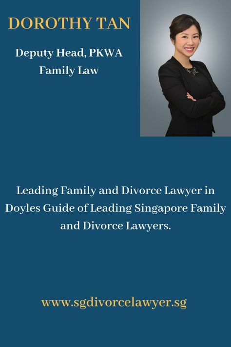 Divorce Lawyer Singapore Dorothy Tan Senior Associate Director