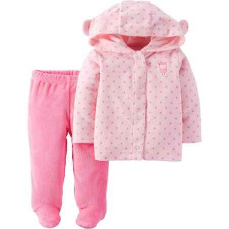 NEW W//T FISHER PRICE GIRLS 2 PC PINK SHORT OUTFIT SZ 12 MONTHS