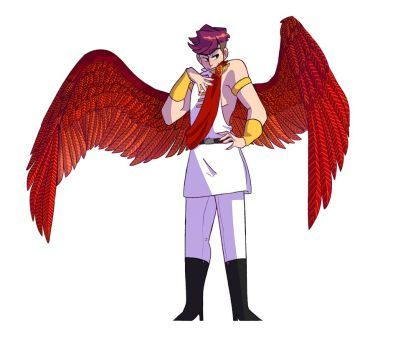 Winged Sides 2/4: Cardinal Roman by seohlee   thomas sanders