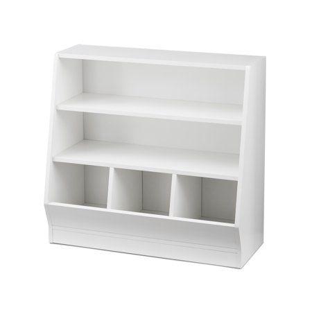 Your Zone Kids Bin Storage And Book Case White Finish Walmart Com Kids Bins Storage Bins Bookcase