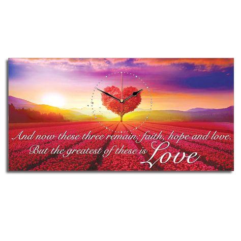 jam dekorasi #love #hope #faith size 40x80cm ideal