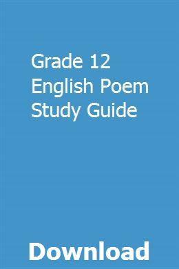 Grade 12 English Poem Study Guide The Last Lesson Kawasaki