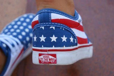 america #vans   American flag vans, Shoes, Vans