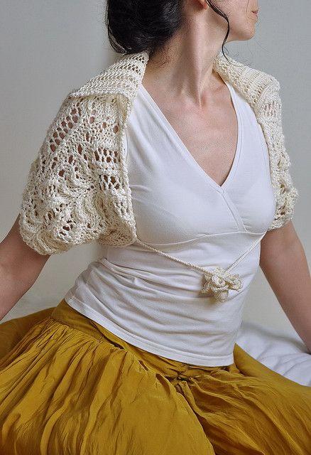 706a6760ae3 Princess Bride II - handknitted luxurious bridal shrug   bolero in ivory  shades   natural fibres