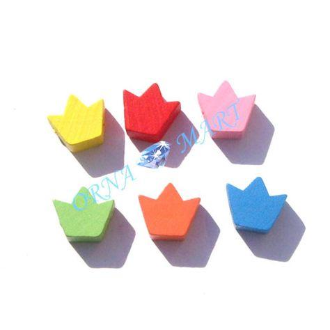 50PCS 15 mm Multicolore En Forme De Papillon Acrylique Perles pour Fabrication de Bijoux