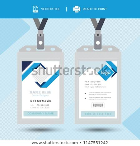 Id Card With Lanyard Set Isolated Vector Illustration Blank