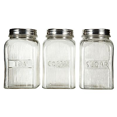 Buy John Lewis Home Comforts Glass Storage Jars Online At