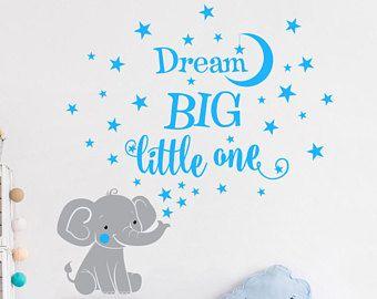 Elephant Dream Big Little One Vinyl Wall Decal Sticker For Nursery Boy S Girl S Room Or Playroom Wall Decal Sticker Mural Wallpaper Vinyl Wall Decals