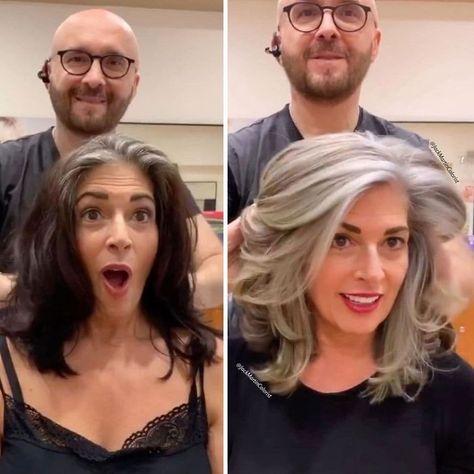 Long Gray Hair, Hair Color For Black Hair, Gray Hair Women, Curly Gray Hair, Grey Hair Over 50, Black And Grey Hair, Grey To Black Hair Naturally, Best Gray Hair Dye, Grey Hair Natural