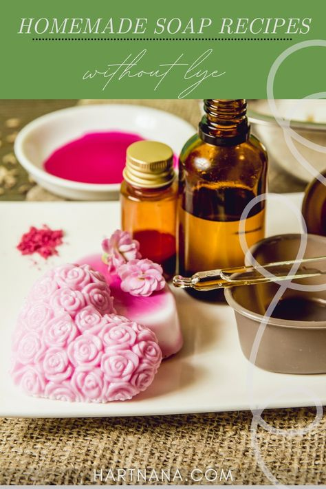 Use these homemade soap recipes (without lye) to make mother's day gift baskets or as a fun DIY soapmaking event with your kids. Melt and Pour Soap recipes that will make you excited about making soap without the trepidation lye brings to the process.