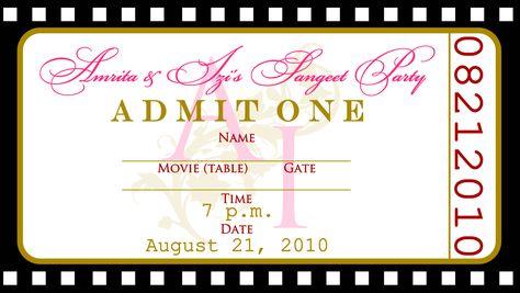 Fashionable Concert Ticket Invitation Template Free in Gorgeous - concert ticket invitations template