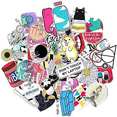 Phone Girls Teens 50-Pack Waterproof Vinyl Stickers for Waterbottles Laptop