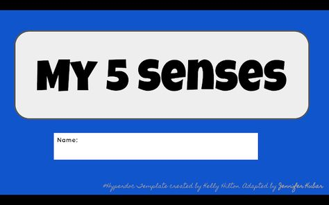 Empowering Our Littlest Learners!: Kindergarten Hyperdoc - My Five Senses