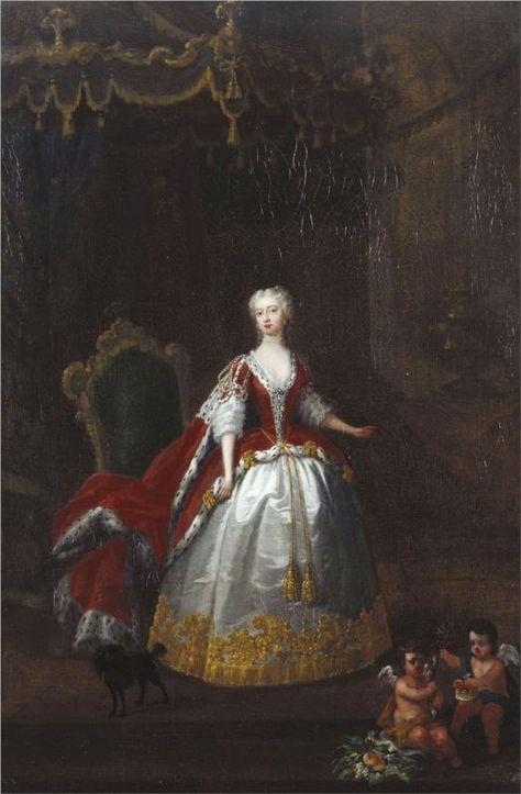 William Hogarth Portrait Of Augusta Of Saxe Gotha C 1736 1738