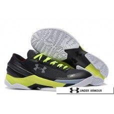 Under Armour UA Curry 2 Low Green Black White Basketball Shoes - UA Curry 2  Low