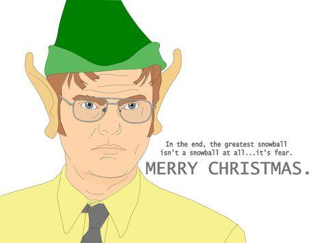 the office christmas card