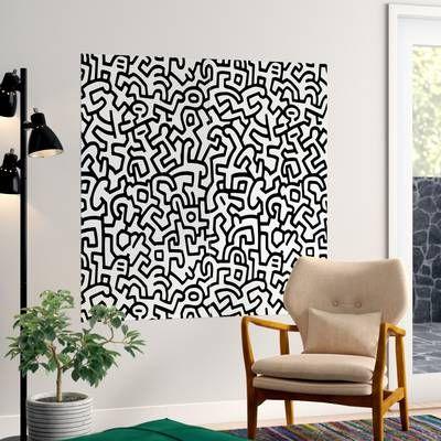 Exuberant Prints Queen Of Spain Wallpaper Roll Reviews Allmodern Wall Murals Mural Keith Haring