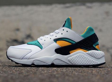 8377357b722 Nike Air Huarache OG - White - Sport Turquoise - University Gold  One on my  favs of all time