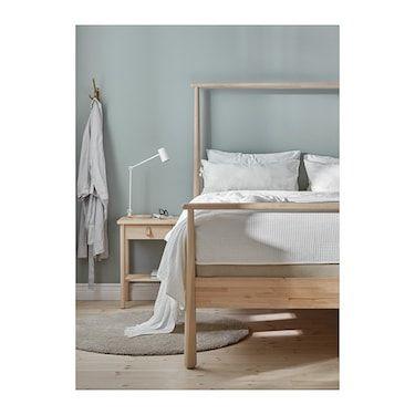 GjÖra Birch Luröy Bed Frame Standard, Are Ikea Beds Standard Size