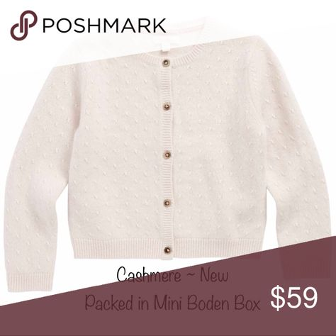 969f589070d8 NWT and Gift Box Mini Boden Cashmere Cardigan Sz 7 NWT