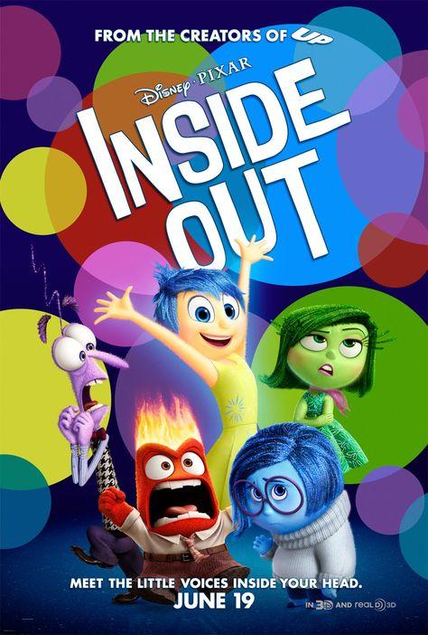 Inside Out (2015) USA Walt Disney / Pixar Animation. Voice cast: Amy Poehler, Bill Hader, Mindy Kaling, Diane Lane, Kyle MacLachlan, John Ratzenberger. (10/10) 31/7/15