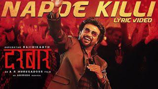 Napde Killi Song Lyrics In Hindi Darbar Movie 2020 In 2020 Lyrics Bollywood Songs Songs
